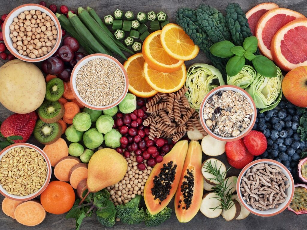 A plant based diet is high in fibre